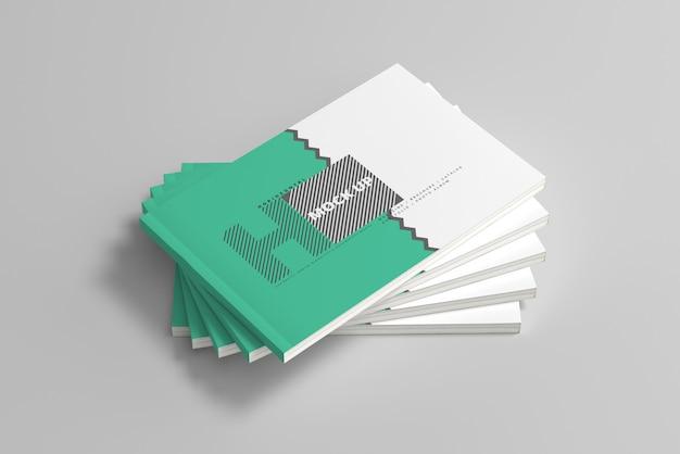 Horizontal magazine cover mockups