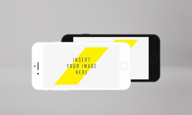Горизонтальный экран мобильного телефона макет