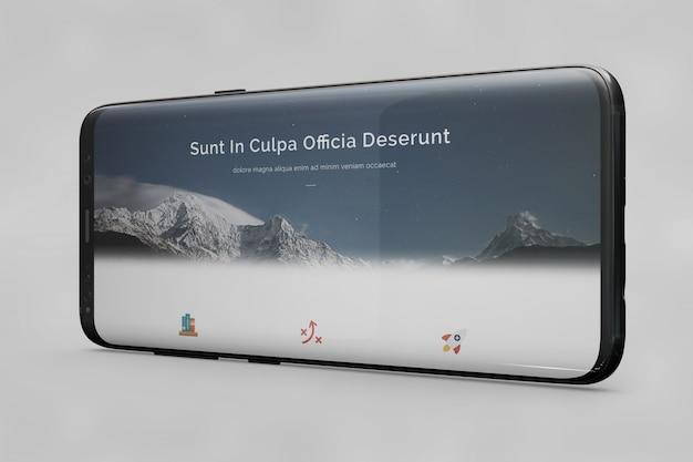 Horizontal smartphone mockup