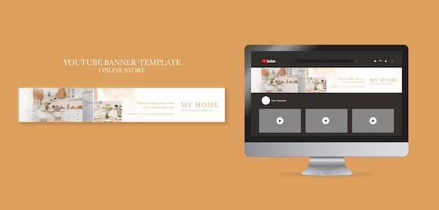 Horizontal youtube banner for home furniture online shop