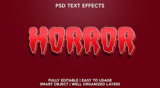 공포 텍스트 효과 프리미엄 PSD 파일