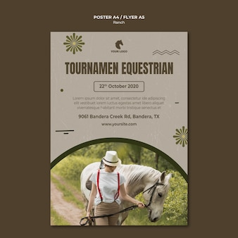 Horse ranch flyer template