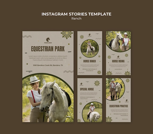 Horse ranch instagram stories template