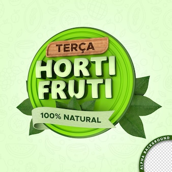 Hortifruti 3d clipping path