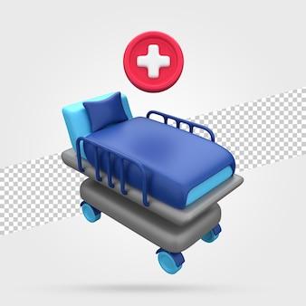 病院用ベッドの3dレンダリング