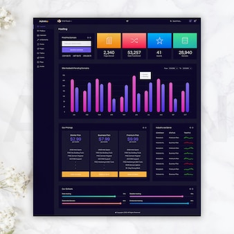 Hosting dark admin template