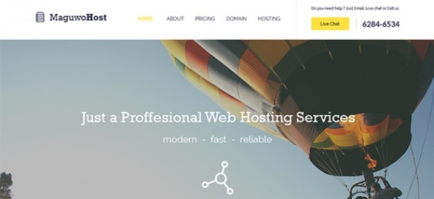 Hosting web elements template