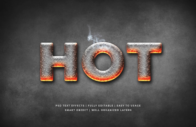 Hot 3d text style effect template