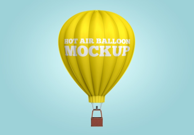Hot air balloon mockup