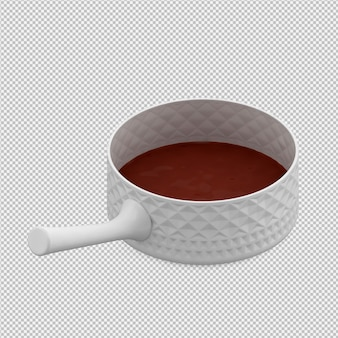 Hot chocolate 3d isolated render