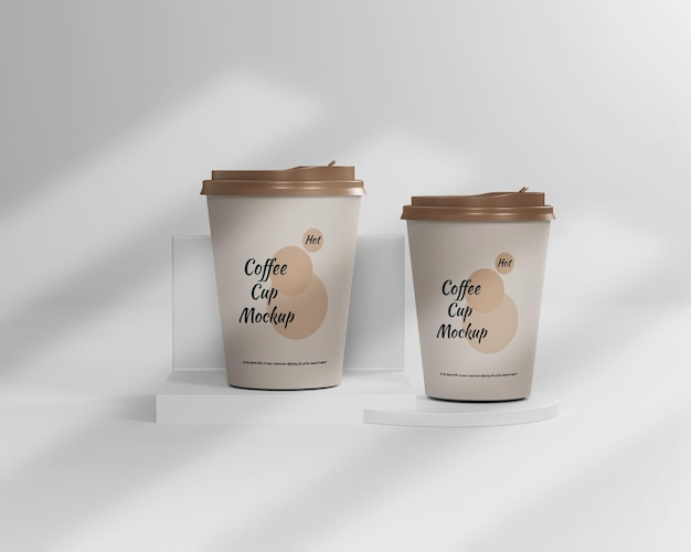 Hot coffee cup mockup