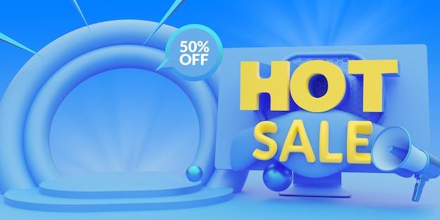 소셜 미디어 게시물 배너 템플릿에 대한 뜨거운 판매 온라인 쇼핑 프로모션
