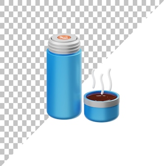 Бутылка с горячей водой 3d иллюстрация