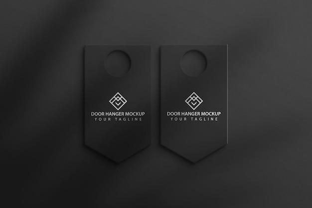 Hote door hanger mockup template premium psd