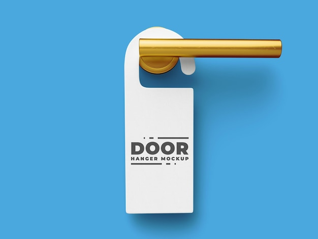 Hote door hanger mockup template