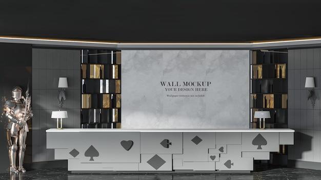 Hotel interior wall mockup design