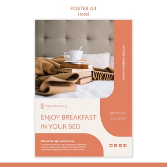 Hotel poster template theme