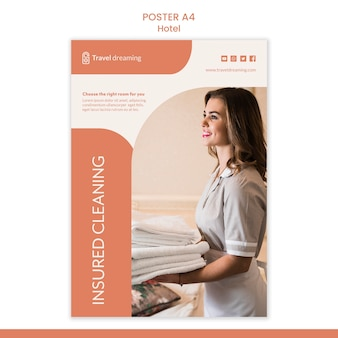 Hotel poster template