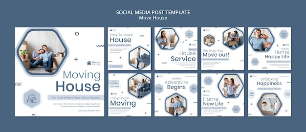 House moving service instagram posts