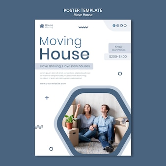 House moving service print template