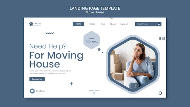 Веб-шаблон службы переезда дома