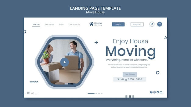 住宅引越サービスのウェブテンプレート