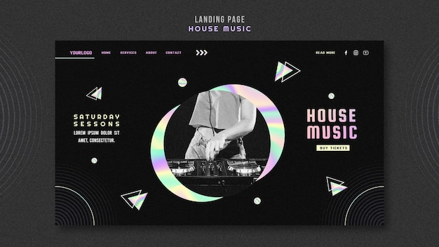 House music ad landing page template