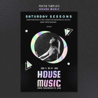 House music poster template