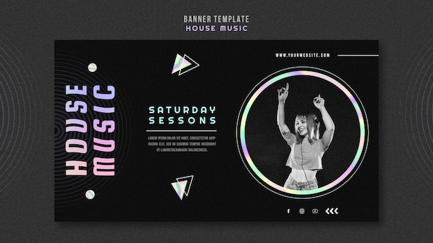House music template banner