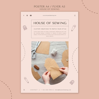 縫製ポスターテンプレートの家