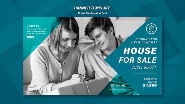 Modello di banner di vendita di casa