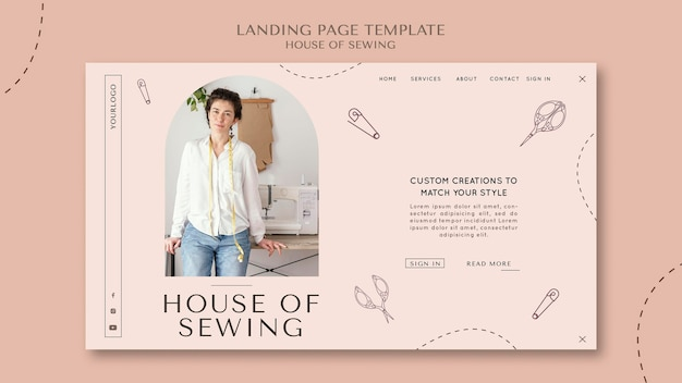 House of sewing landing page