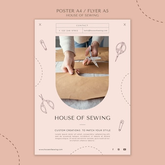 House of sewing poster template