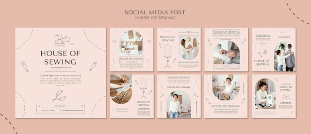 House of sewing social media post