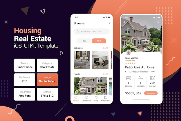 Housing real estate mobile apps