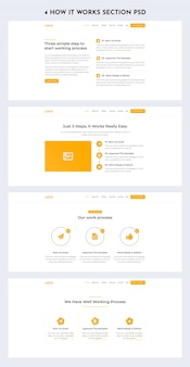 How it work section web ui kit
