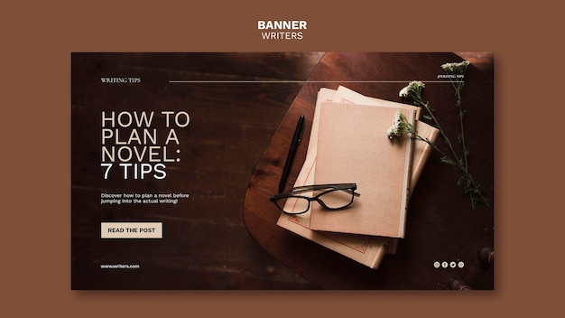 How to plan a novel tips banner template