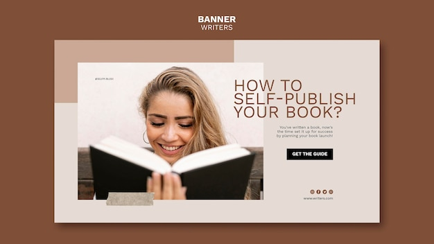 How to self publish your book banner template