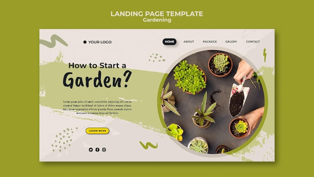 How to start a garden landing page template