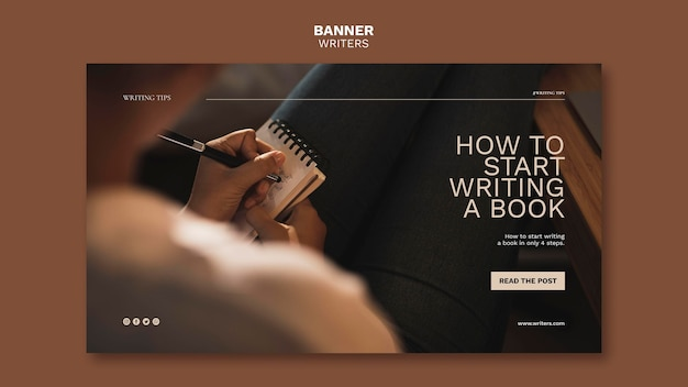 How to start writing a book banner template