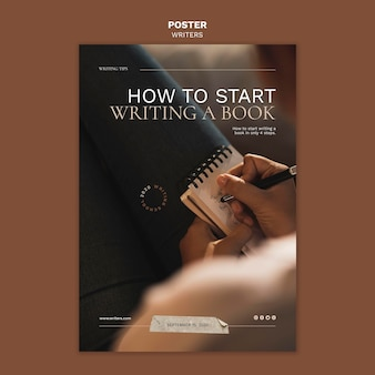 How to start writing a book poster template