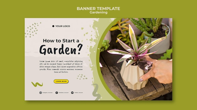 Как запустить шаблон садового баннера