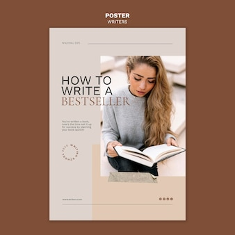 How to write a bestseller poster template