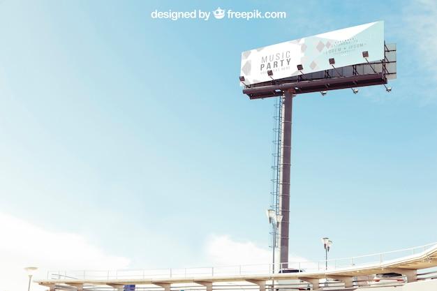 거대한 광고판 모형