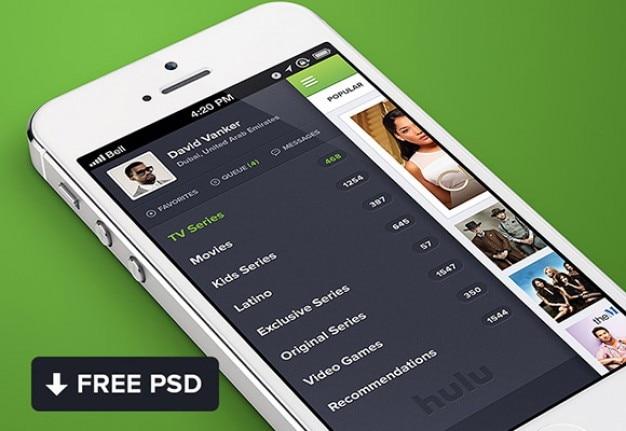 Huluのiphoneアプリ
