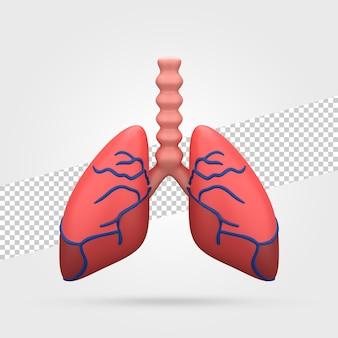 人間の肺の3dレンダリング
