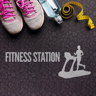 Hydration and fitness class equipment