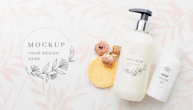 衛生と美容のコンセプトのモックアップ