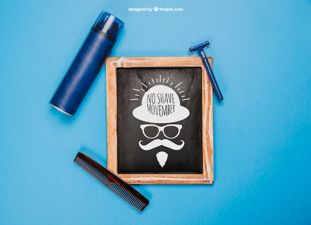 Hygiene and movember mockup concept