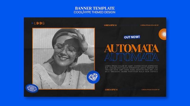 과대 광고 테마 디자인 배너 서식 파일